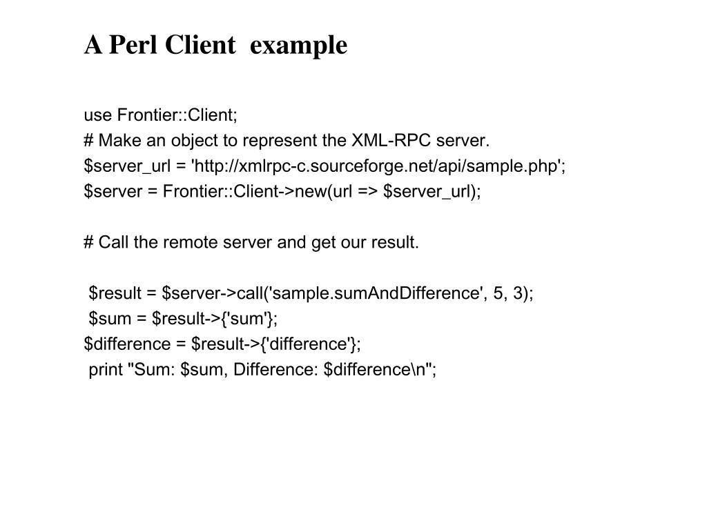 PPT - XML-RPC PowerPoint Presentation - ID:4463513