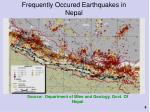 frequently occured earthquakes in nepal