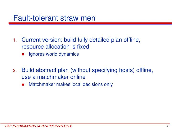 Fault-tolerant straw men