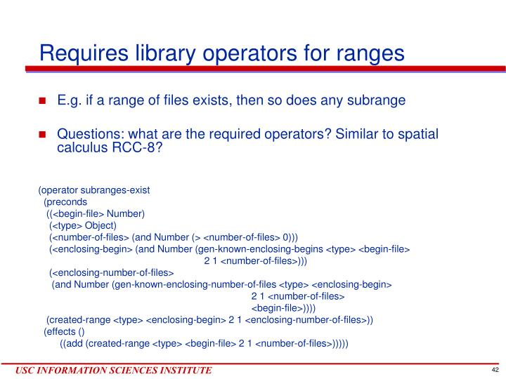 Requires library operators for ranges