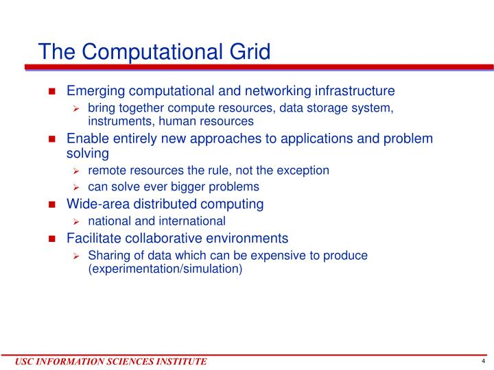 The Computational Grid