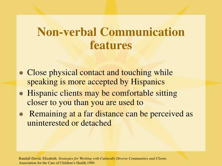 Non-verbal Communication features