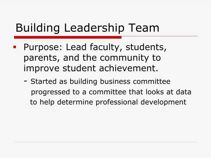 Building Leadership Team