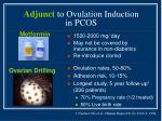 adjunct to ovulation induction in pcos