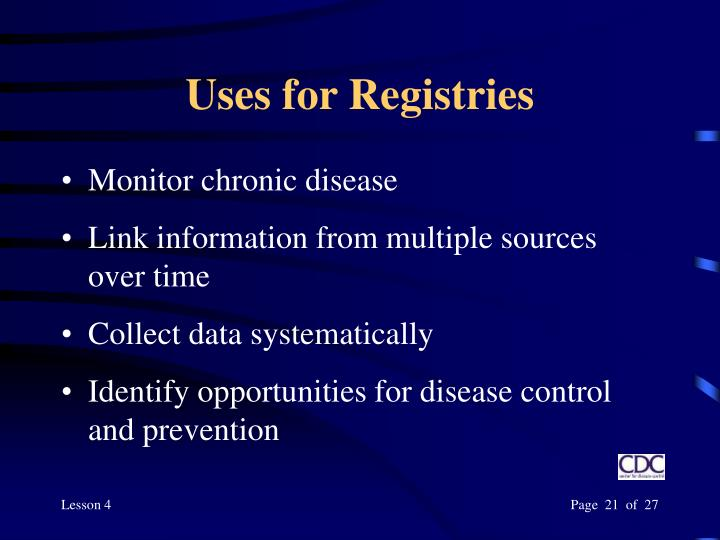 Uses for Registries