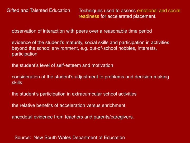 Gifted and Talented Education