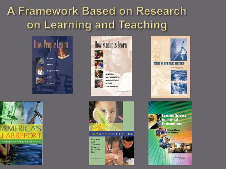 A Framework Based on Research on Learning and Teaching