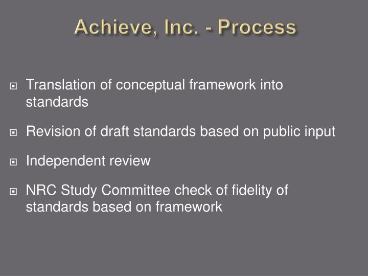Achieve, Inc. - Process