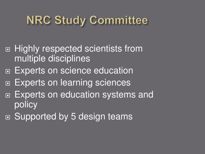 NRC Study Committee