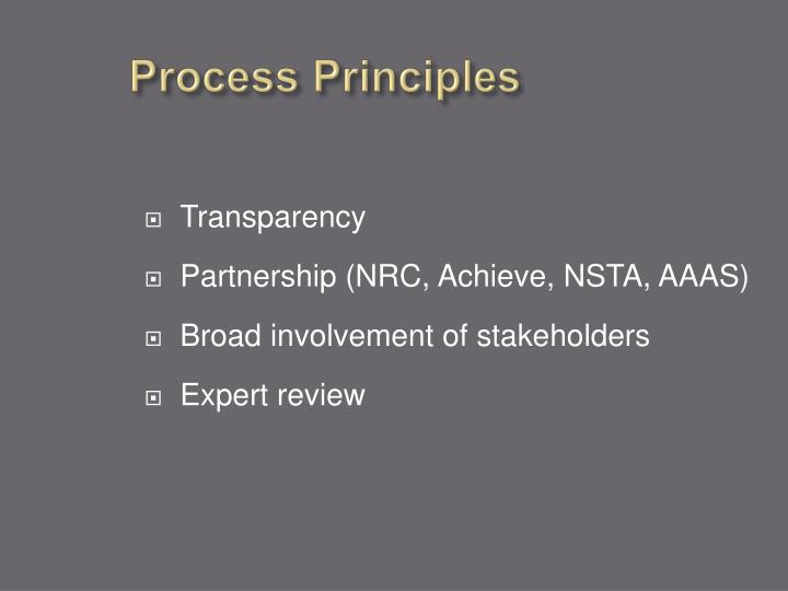Process Principles
