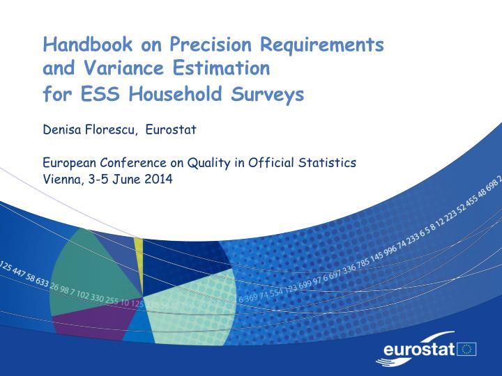 Handbook on precision requirements and variance estimation for ess household surveys