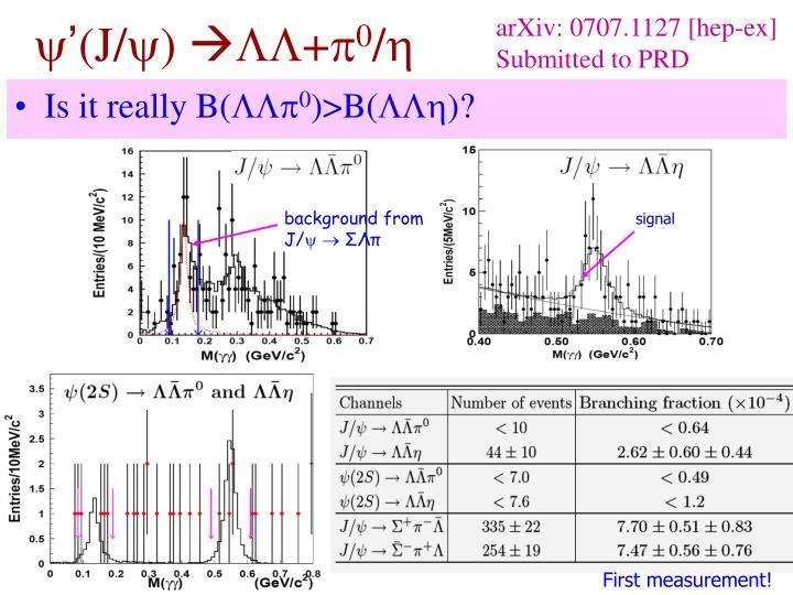 arXiv: 0707.1127 [hep-ex]