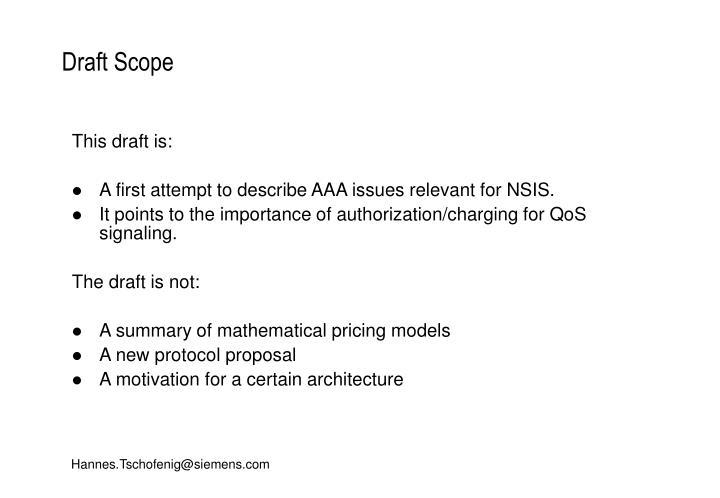 Draft scope