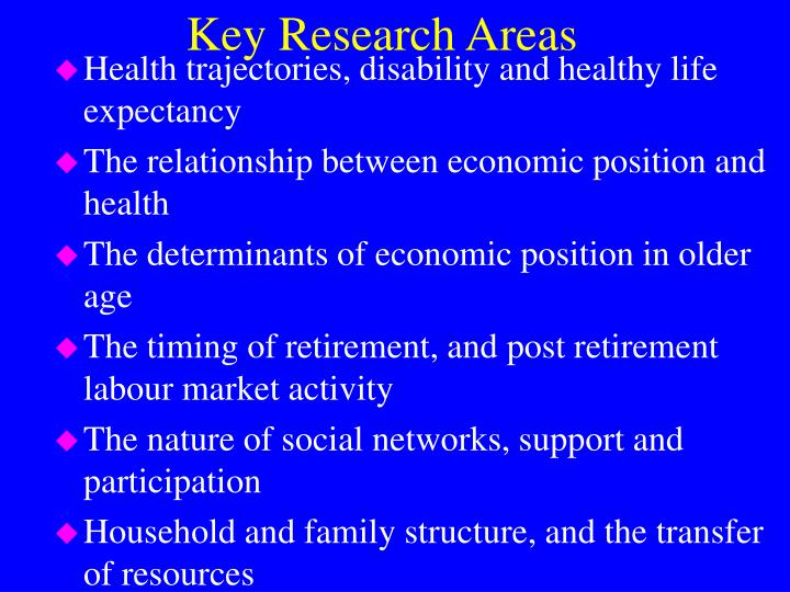 Key Research Areas