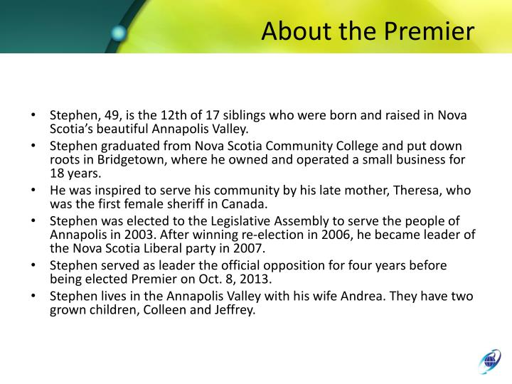 About the Premier