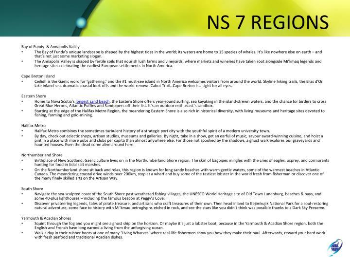 NS 7 REGIONS