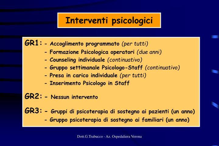 Interventi psicologici