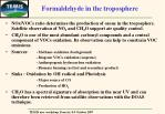 formaldehyde in the troposphere