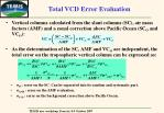 total vcd error evaluation