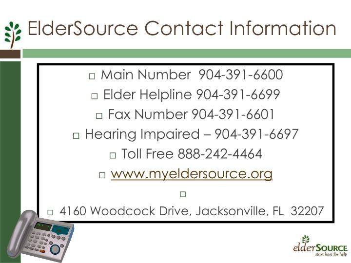 ElderSource Contact Information