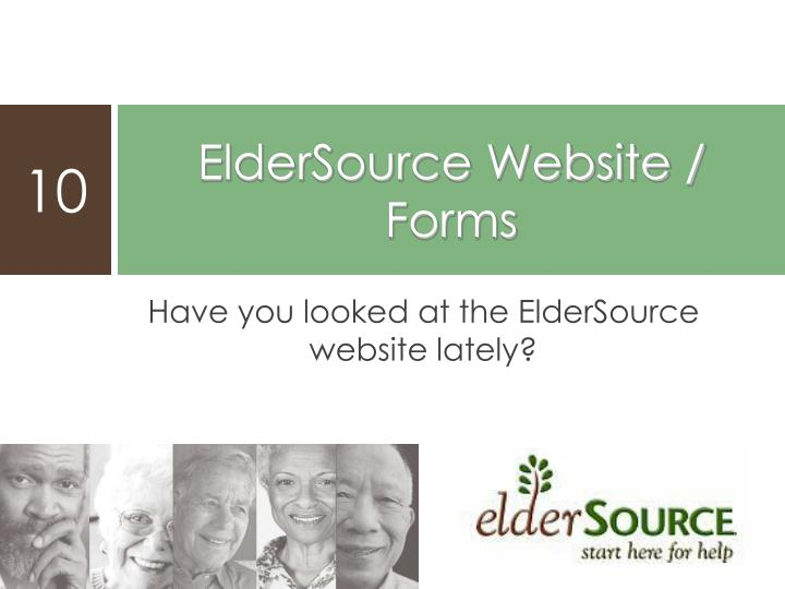 Have you looked at the ElderSource website lately?