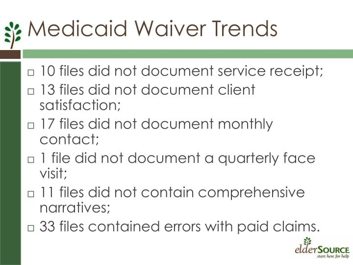 10 files did not document service receipt;