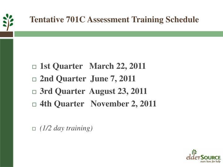 1st Quarter   March 22, 2011