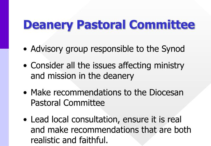 Deanery Pastoral Committee