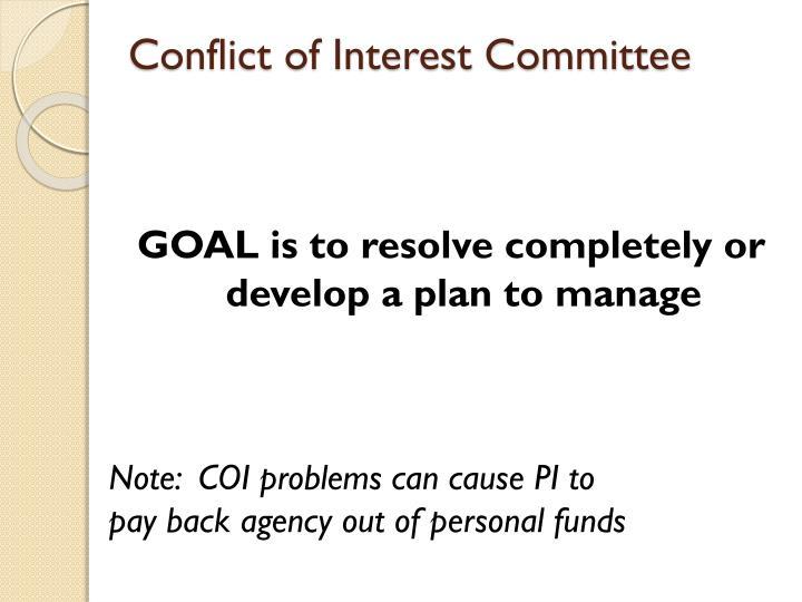 Conflict of Interest Committee