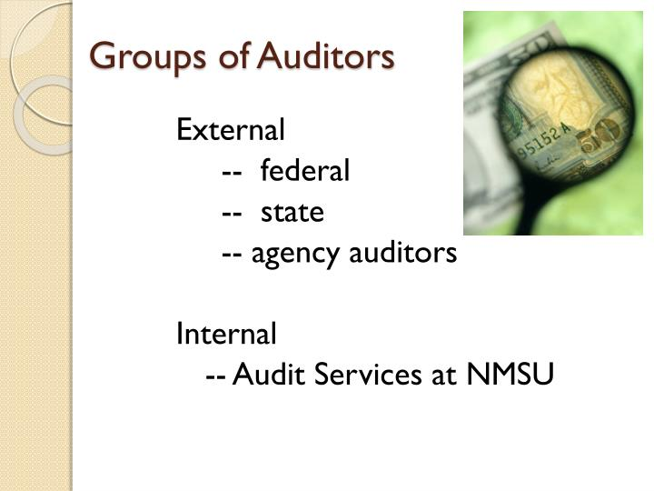 Groups of Auditors