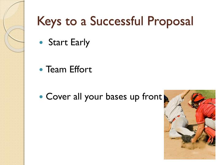Keys to a Successful Proposal
