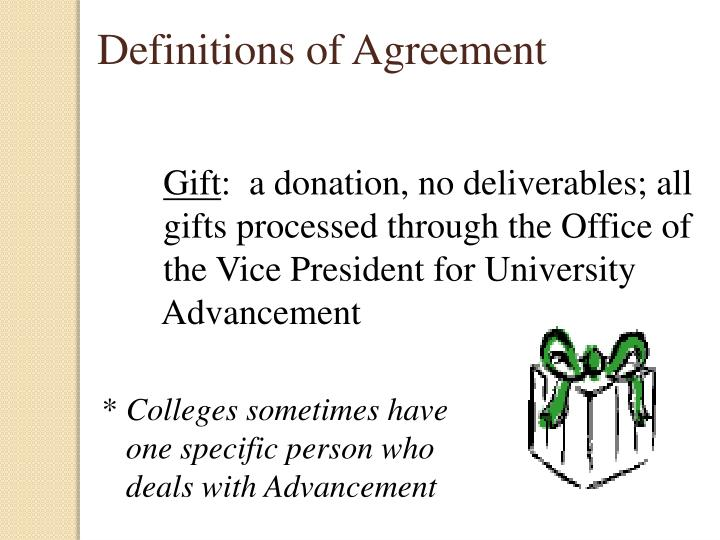 Definitions of Agreement