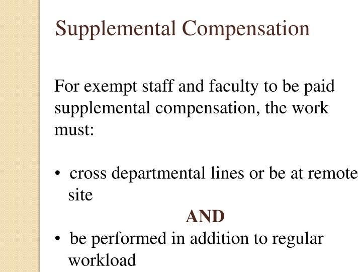 Supplemental Compensation