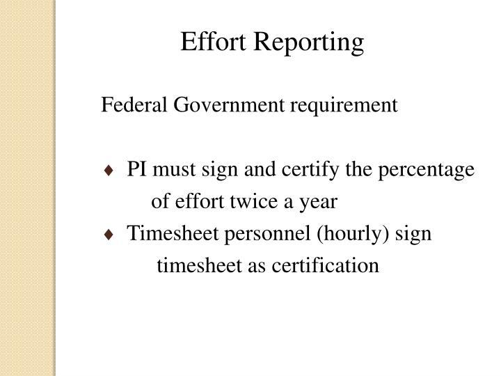 Effort Reporting