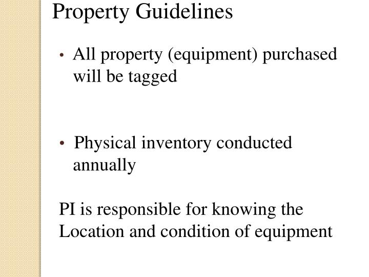 Property Guidelines