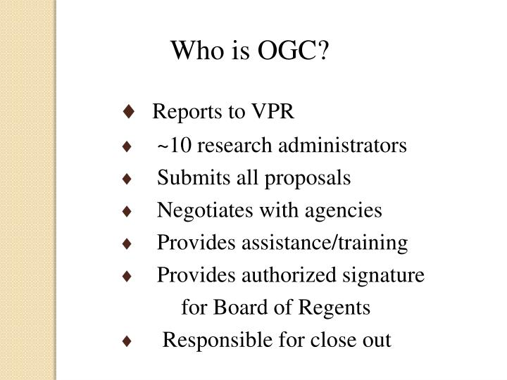 Who is OGC?