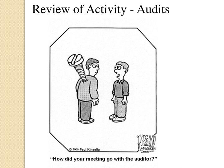 Review of Activity - Audits