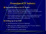 promotion of it industry