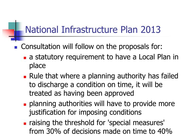 National Infrastructure Plan 2013