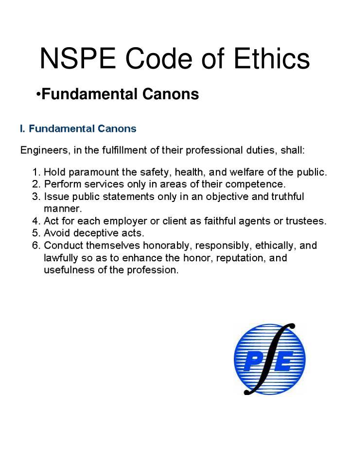 nspe code of ethics
