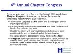 4 th annual chapter congress