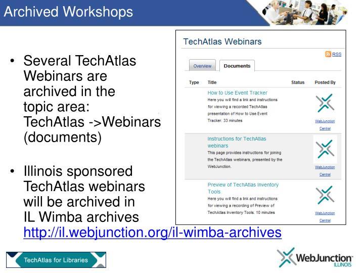 Archived Workshops
