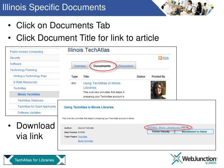 Illinois Specific Documents