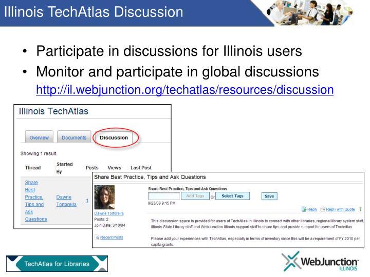 Illinois TechAtlas Discussion