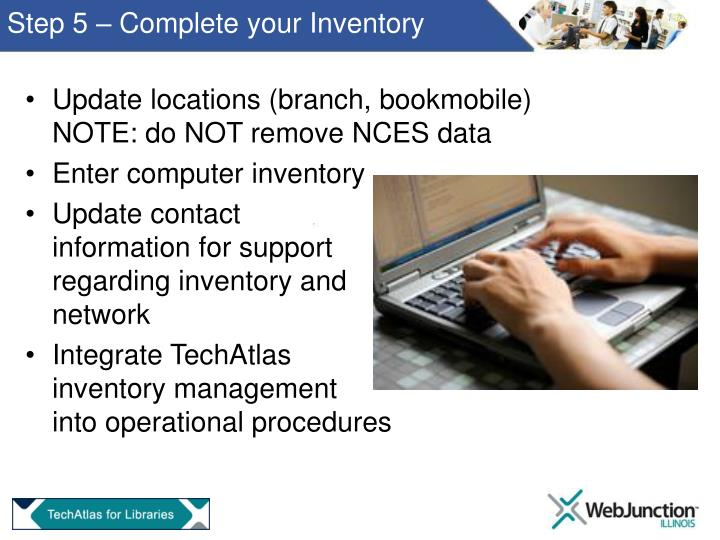 Step 5 – Complete your Inventory
