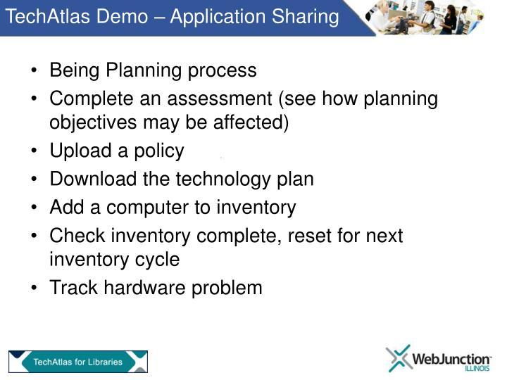 TechAtlas Demo – Application Sharing