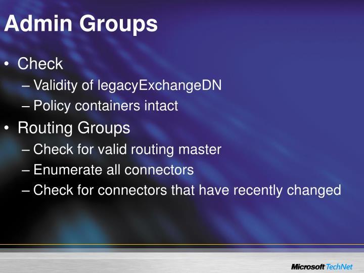 Admin Groups
