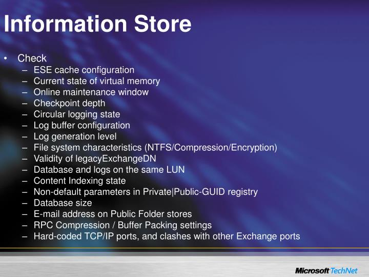 Information Store