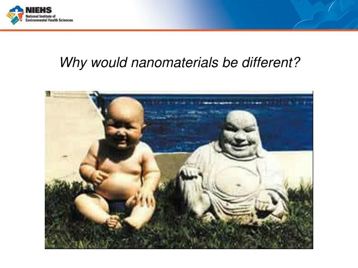 Why would nanomaterials be different?