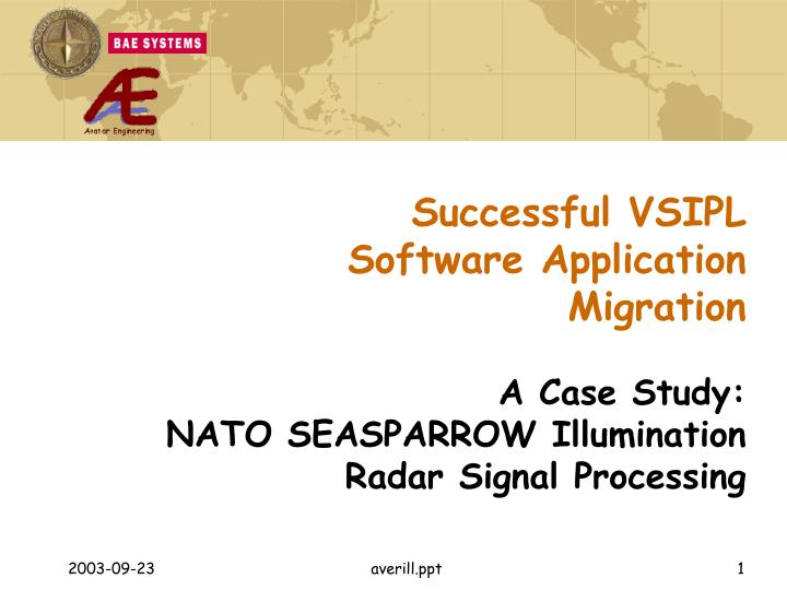 successful vsipl software application migration n.